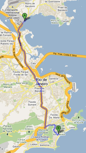 Arrival from Rio International  airport to BoLeRio apartment 1
